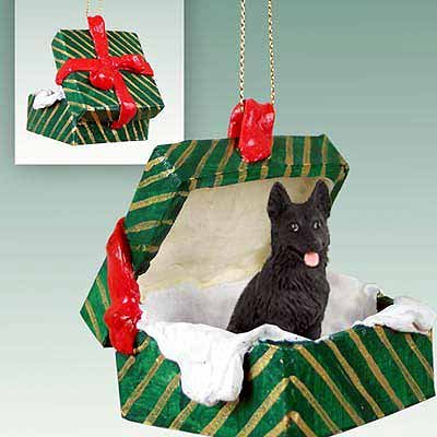 Conversation Concepts German Shepherd Black Gift Box Green Ornament