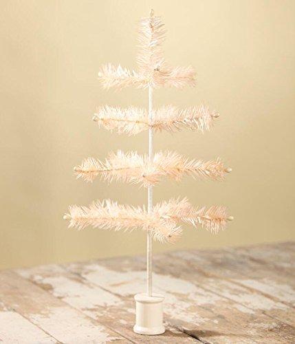 Bethany Lowe 16″ Tea Color Feather Christmas Tree