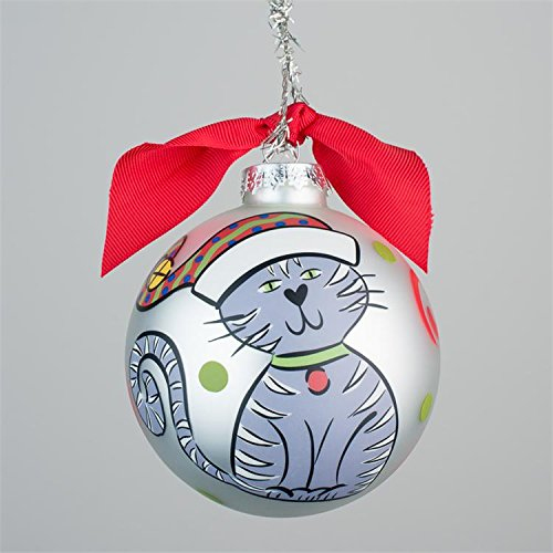 Glory Haus Cat Glass Ornament, 4-inch