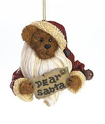 Enesco Boyds Resin Dear Santa Holiday Ornament