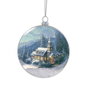 Enesco Thomas Kincaid Painter of Light Sleigh Ride Ornament, 3.875-Inch