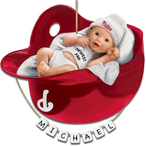 Philadelphia Phillies Personalized Baby's First Christmas Ornament by The Bradford Exchange