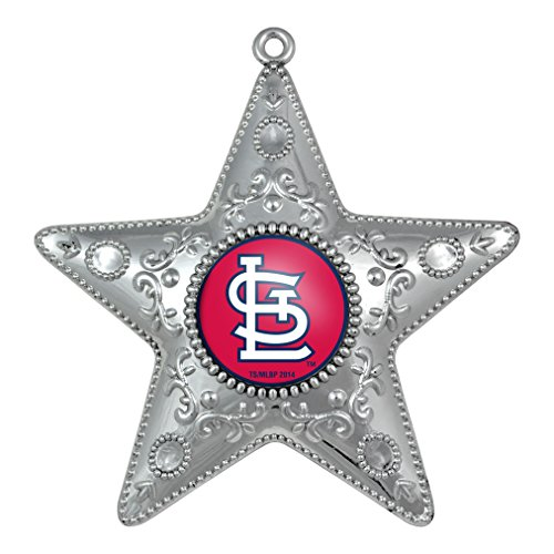 St Louis Cardinals – MLB Official 4.5″ Silver Star Ornament