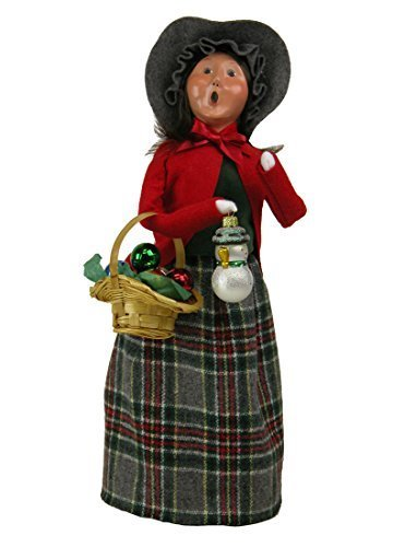 Byers Choice Caroler Woman with Glass Ornaments 2015 by Byers' Choice Ltd.