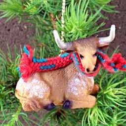 Conversation Concepts Long Horn Steer Original Ornament