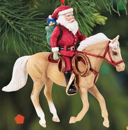 BREYER ★ SPECIAL DELIVERY COWPONY ORNAMENT ★ 2015 HOLIDAY HORSE ★ LIMITED EDITION