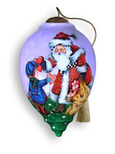 Ne'Qwa Art Give Your Heart – Glass Ornament Hand-Painted 699-NEQ