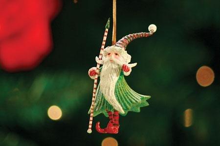 Patience Brewster Mini Ornament – Santa Wizard