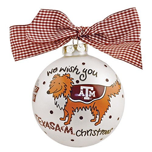 TX A&M We Wish Ornament