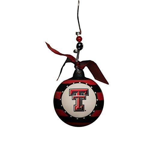 Glory Haus Texas Tech Stripe Ornament, 4-Inch