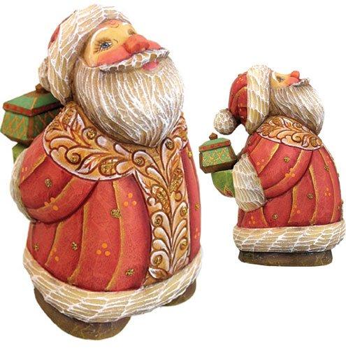 G.Debrekht 517641 Derevo Collection Santa Gift Box 4 in.