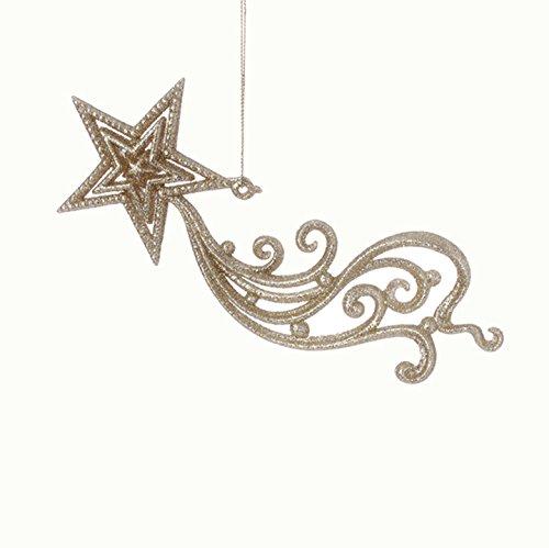 RAZ Imports – Formal Affair – 8″ Glittered Shooting Star Christmas Tree Ornament
