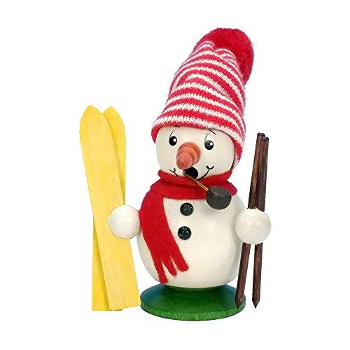 "1-015 – Christian Ulbricht Incense Burner – Snowman Skier – 4.5″""H x 3″""W x 2.5″""D"