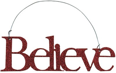(Clearance) Word Ornaments – Believe [Kitchen]
