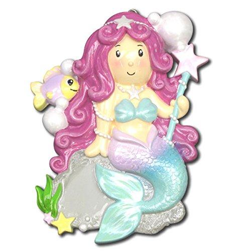 Mermaid Girl Personalized Christmas Tree Ornament