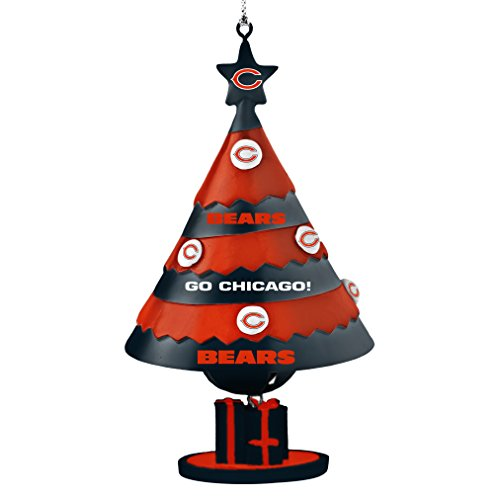 NFL Chicago Bears Tree Bell Ornament, Blue, 5″