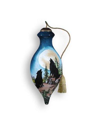 Ne'Qwa Art Full Moon – Glass Ornament Hand-Painted Reverse Painting Distinctive 511-NEQ