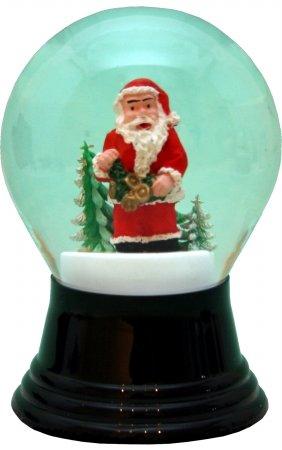 Perzy 5 in. Santa Snow Globe