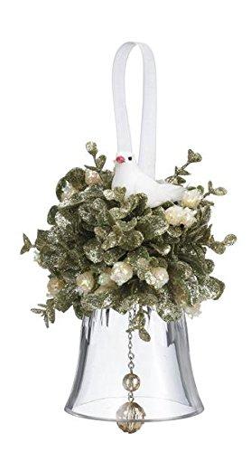 GANZ 5.5″ Kyrstal Kiss Ball Ornament, Dove Bell – Wedding Acrylic Kissing Crystal-like KK99