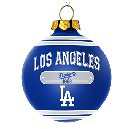 Los Angeles Dodgers Official MLB 2014 Year Plaque Ball Ornament by Forever Collectibles