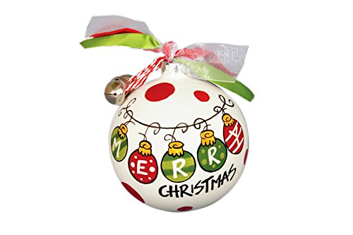 "Hand Painted ""Merry Christmas"" Hanging Christmas Tree Ornament"