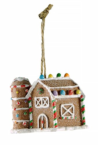 Midwest Gingerbread Barn Ornament