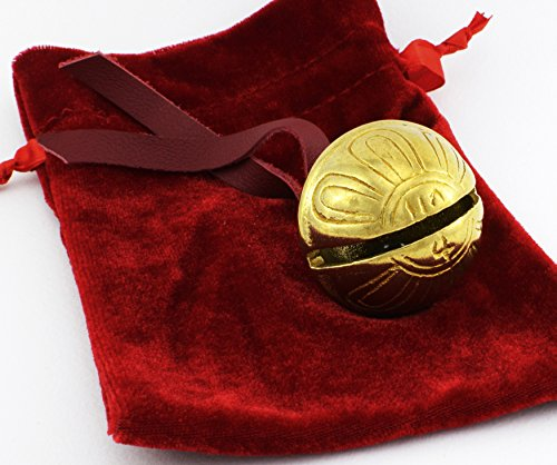 Real Brass Christmas Polar Sleigh Bell Ornament, Jingle Express From Elves At Santa's Sleigh Bells