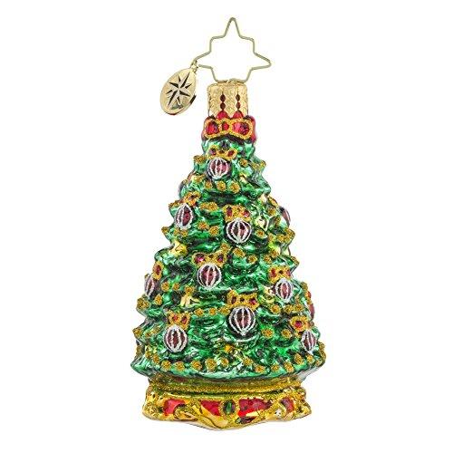 Christopher Radko Noble Fur Christmas Tree Glass Christmas Ornament – 3″h.