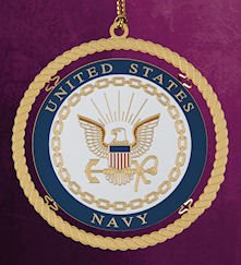 ChemArt 2.5″ Collectible Keepsakes United States Navy Christmas Ornament