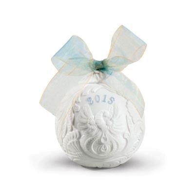 2015 Lladro Porcelain Annual Ball Christmas Ornament Original Blue Finish by Lladro