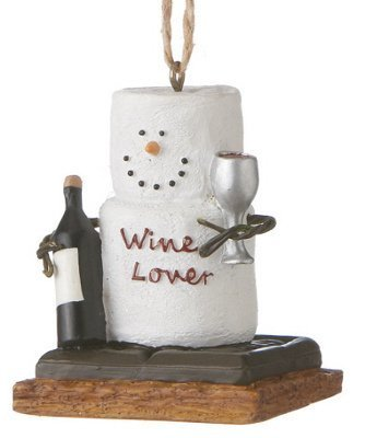 Christmas Decoration S'mores Wine Lover Christmas/Everyday Ornament by Midwest