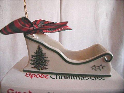 Spode Christmas Tree Sleigh Christmas Ornament by Spode