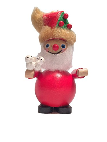 Snowman Steinbach Wood Santa with 2 Turtle Doves