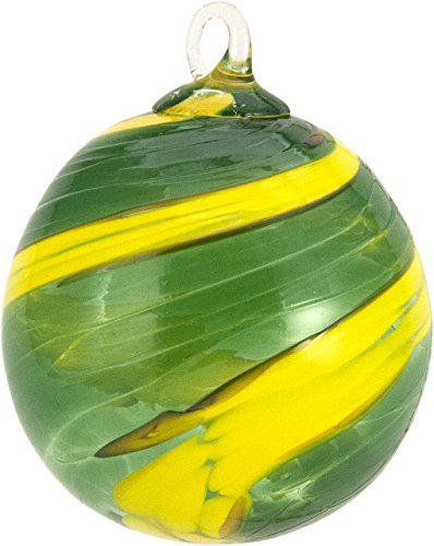 Glass Eye Studio Green & Yellow Classic Ornament …Go Ducks