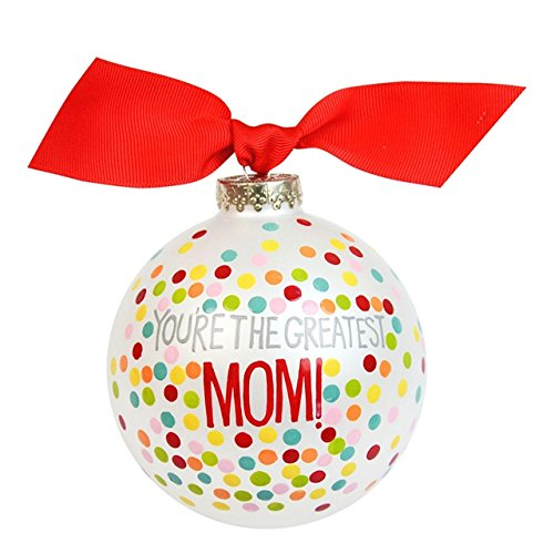 You're the Greatest Mom Glass Ornament