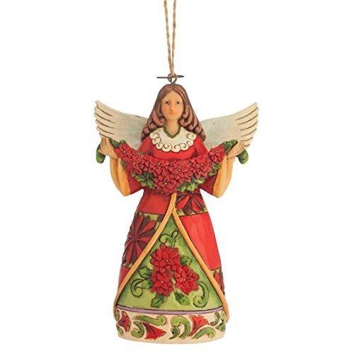 Enesco Jim Shore Poinsettia Angel Ornament by Enesco