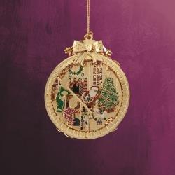 ChemArt Santa with Children Ornament