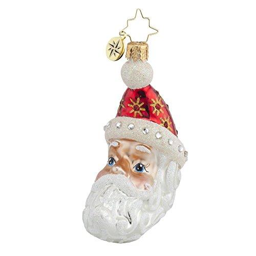 Christopher Radko Moon Crest Nick Santa Glass Ornament – 3.5″h.