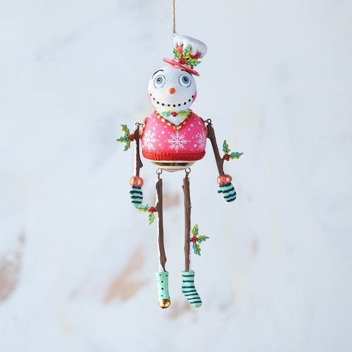 glitterville holly jolly snowman ornament  u2013 7 25