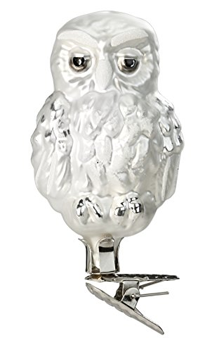 Vintage Owl, #1-084-15, from the 2015 Old German Treasures Collection by Inge-Glas Manufaktur; Gift Box Included