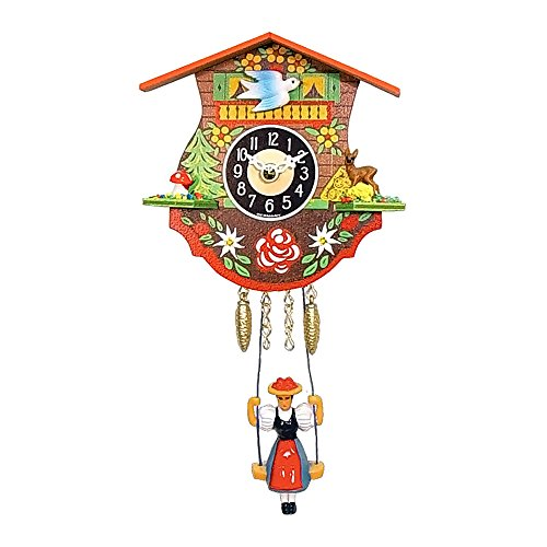 Engstler Christmas Decor Battery-Operated Clock – Mini Size – 4.5″H X 4.5″W X 2.25″D
