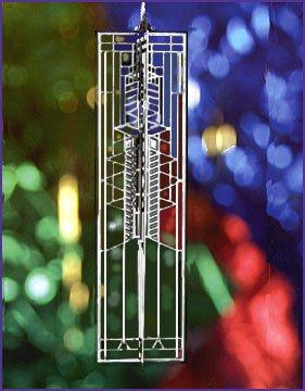 Frank Lloyd Wright Robie Art Glass Christmas Ornament WrightSicle