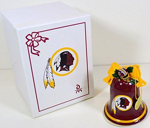 2004 Washington Redskins Christmas Bell Porcelain Ornament