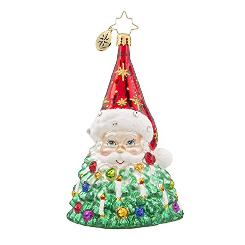 Christopher Radko St. Nick Brillance Santa Glass Christmas Ornament – 5″h.