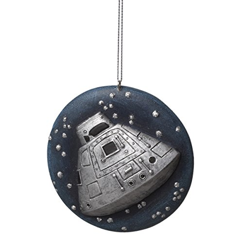 Apollo Spaceship with Space Background Christmas Ornament