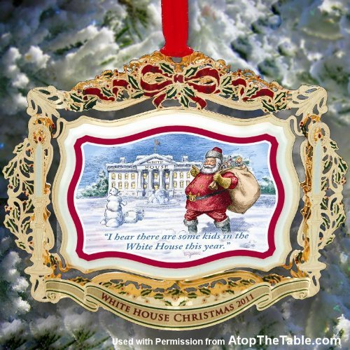 1 X 2011 Official White House Christmas Ornament – President Theodore Roosevelt by Chem-Art