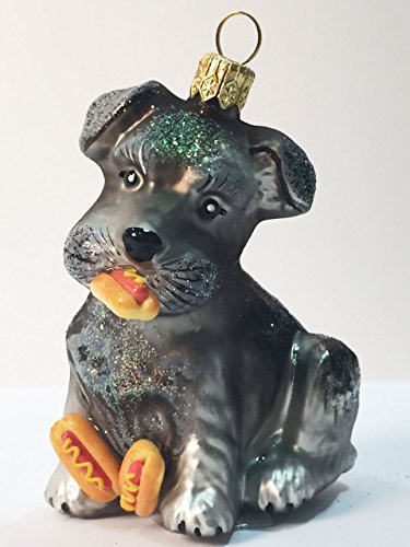 Ornaments to Remember: SCHNAUZER PUPPY (Hot Dogs) Christmas Ornament
