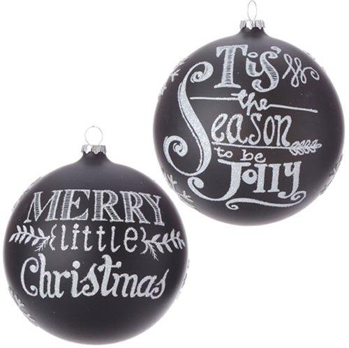 "RAZ 5″ ""Merry"" and ""Season"" Ball Ornaments – 2pk"
