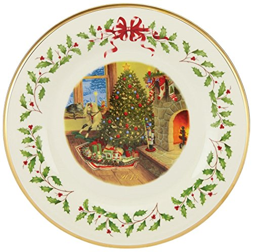 Lenox Holiday 2015 Holiday Collectors Plate, 25th Edition