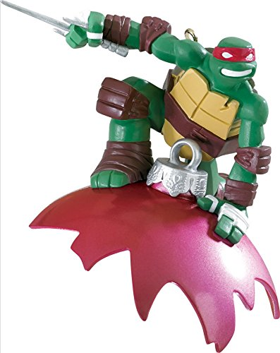 3.75″ Carlton Cards Heirloom Teenage Mutant Ninja Turtles Raphael Christmas Ornament